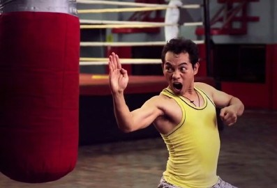 After boxing, pwede palang mag-martial arts si Donaire. Or komidyante.