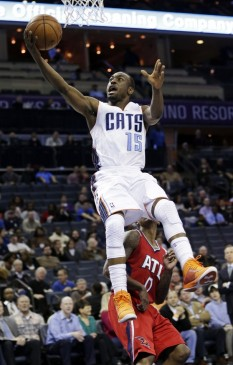 Kemba Walker looks like he's walking on air. Get it? Okay...